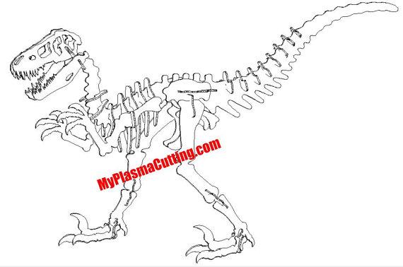 570x378 Raptor Velociraptor Dinosaur Dxf File. 11 Ga Layout