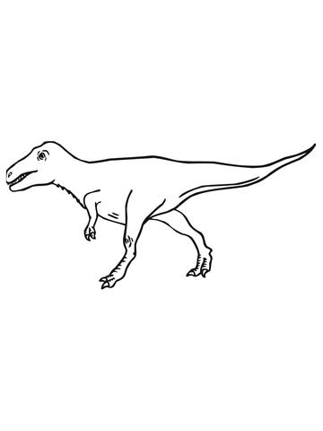 360x480 Velociraptor Cretaceous Period Dinosaur Coloring Page Free