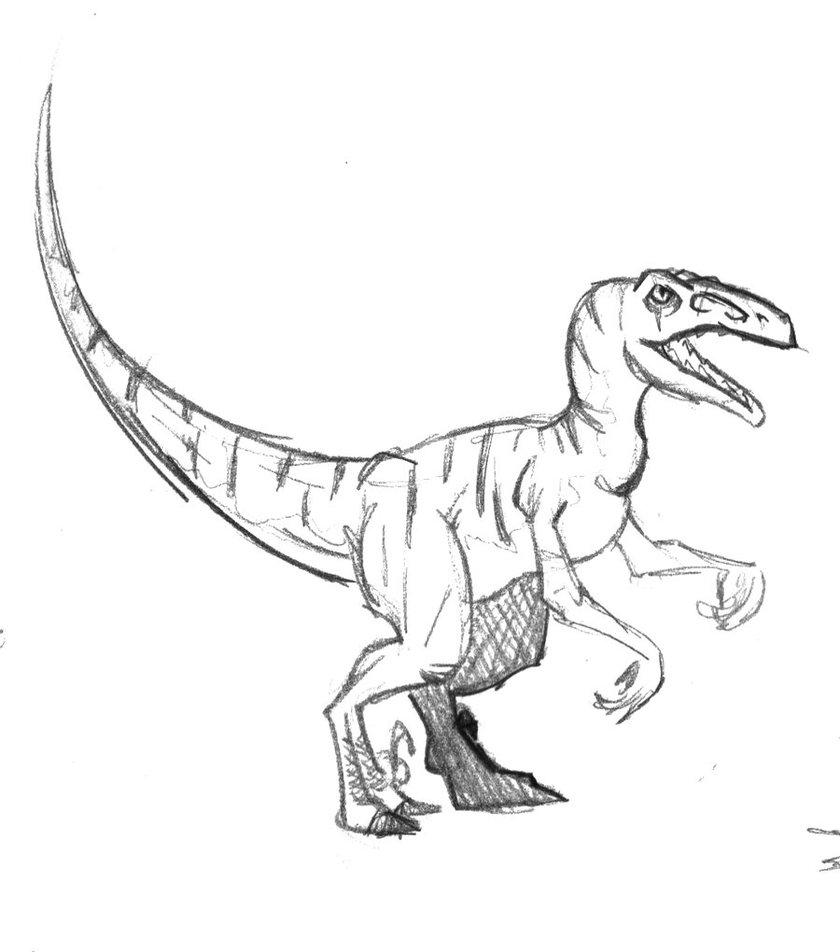 840x952 Velociraptor By No Wang Involved