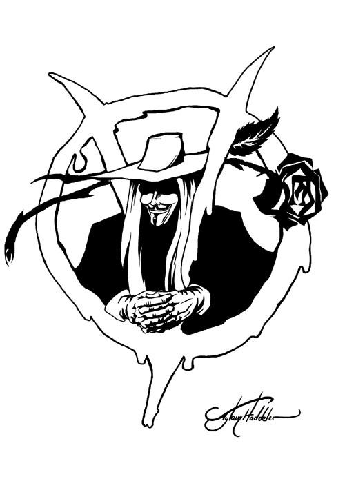 500x694 V For Vendetta Roses