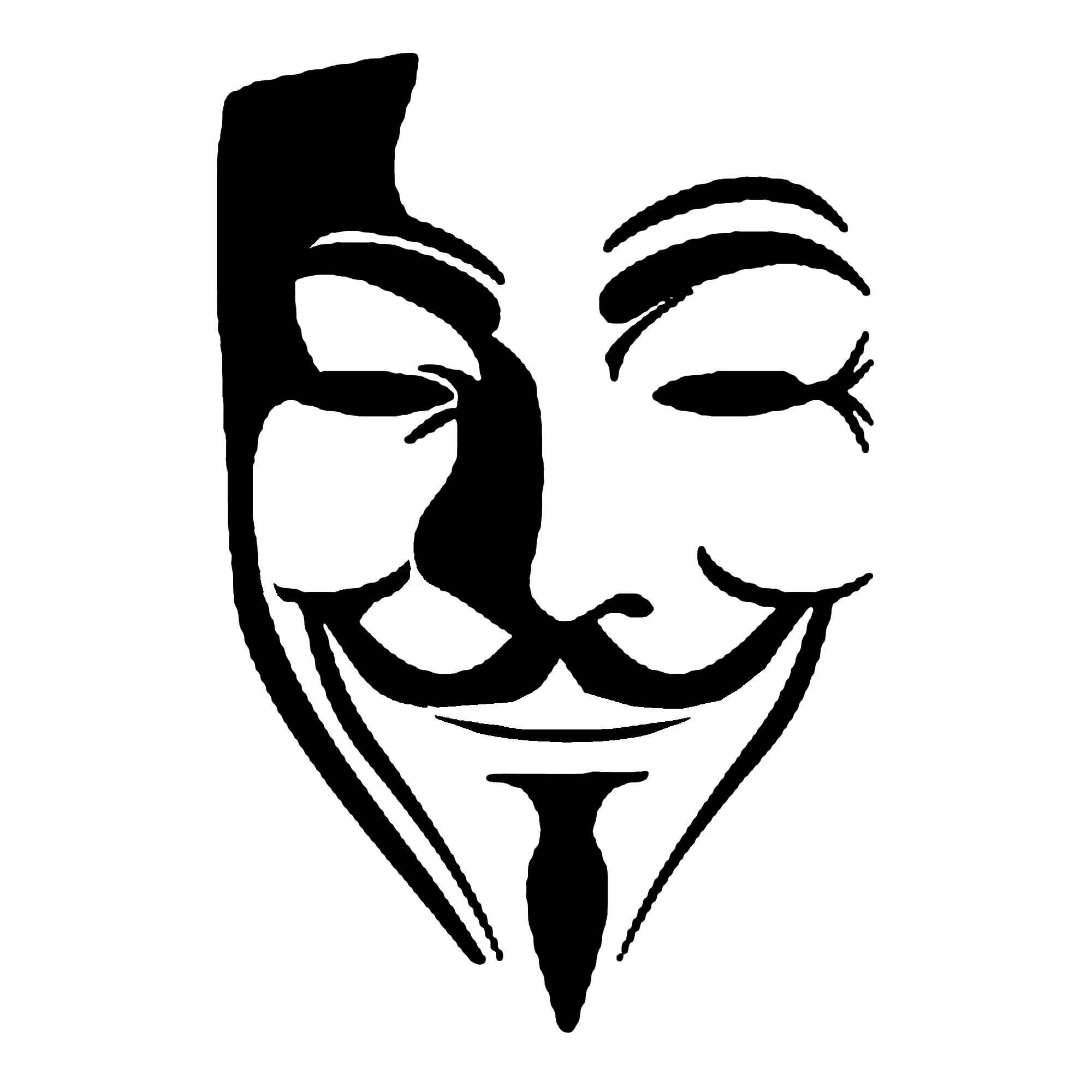 2000x2000 Anonymous Mask Drawing Guy Fawkes Mask Clipart