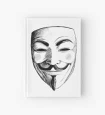 210x230 Anonymous V For Vendetta Mask Drawing Hardcover Journals Redbubble
