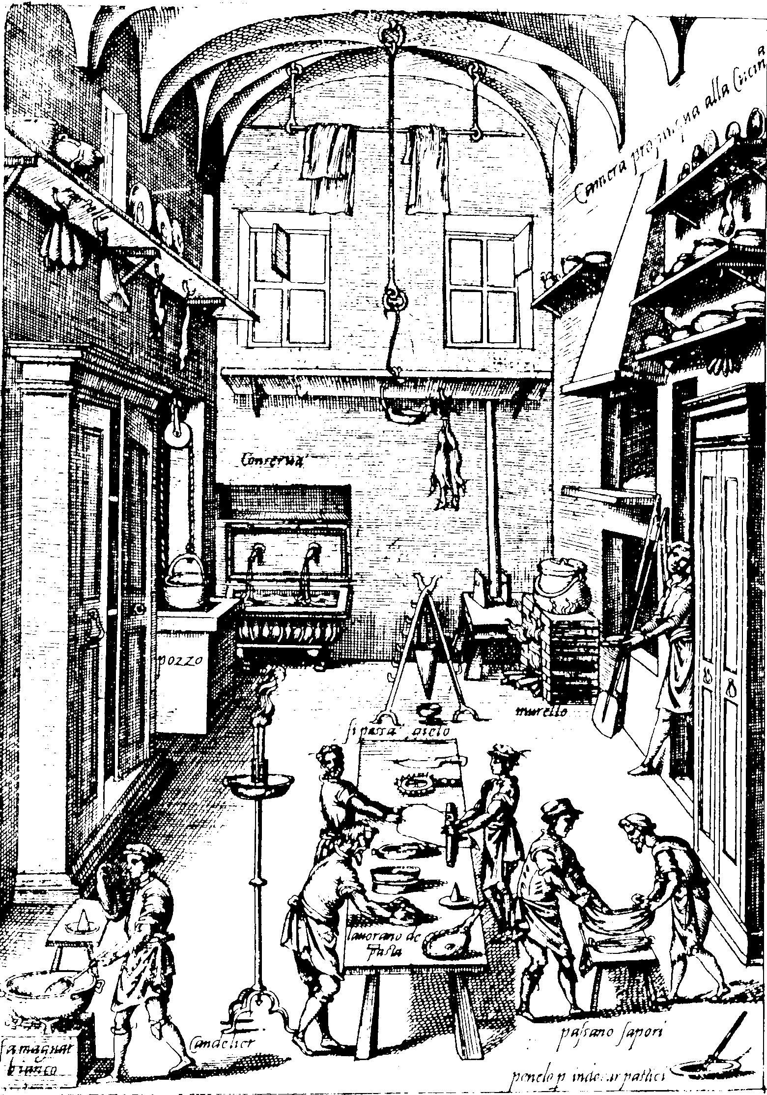 1561x2227 The Private Chef Of Pope Pius V (Large Kitchen) 1570, Venice