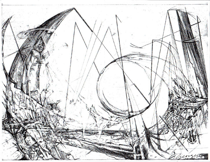 725x560 Christopher Georgesco, Modern Sculpture, Artists Drawings