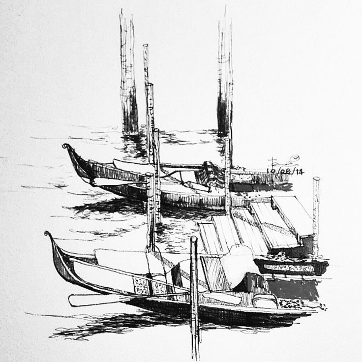 Venice Gondola Drawing