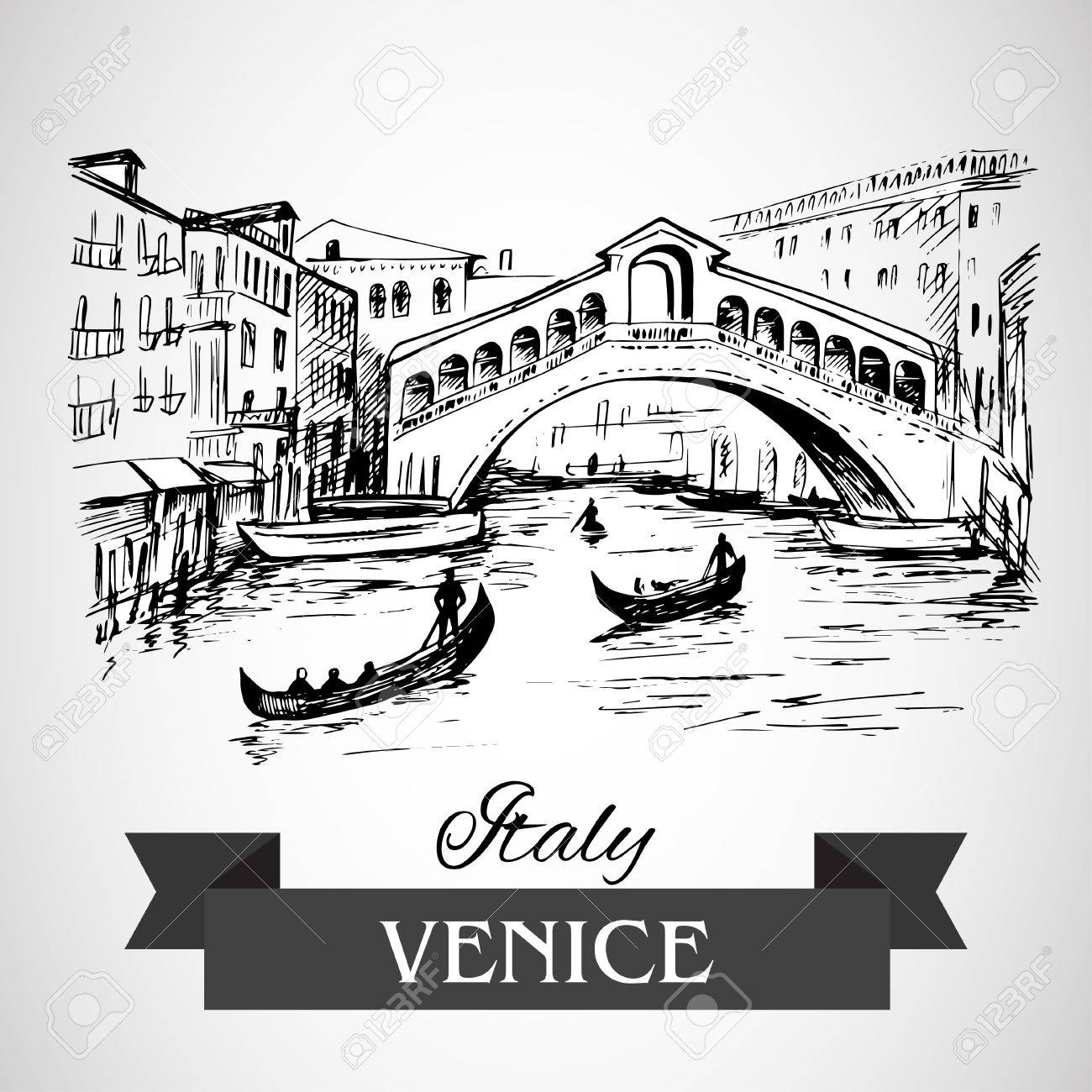 1300x1300 Rialto Bridge, Venice Royalty Free Cliparts, Vectors, And Stock