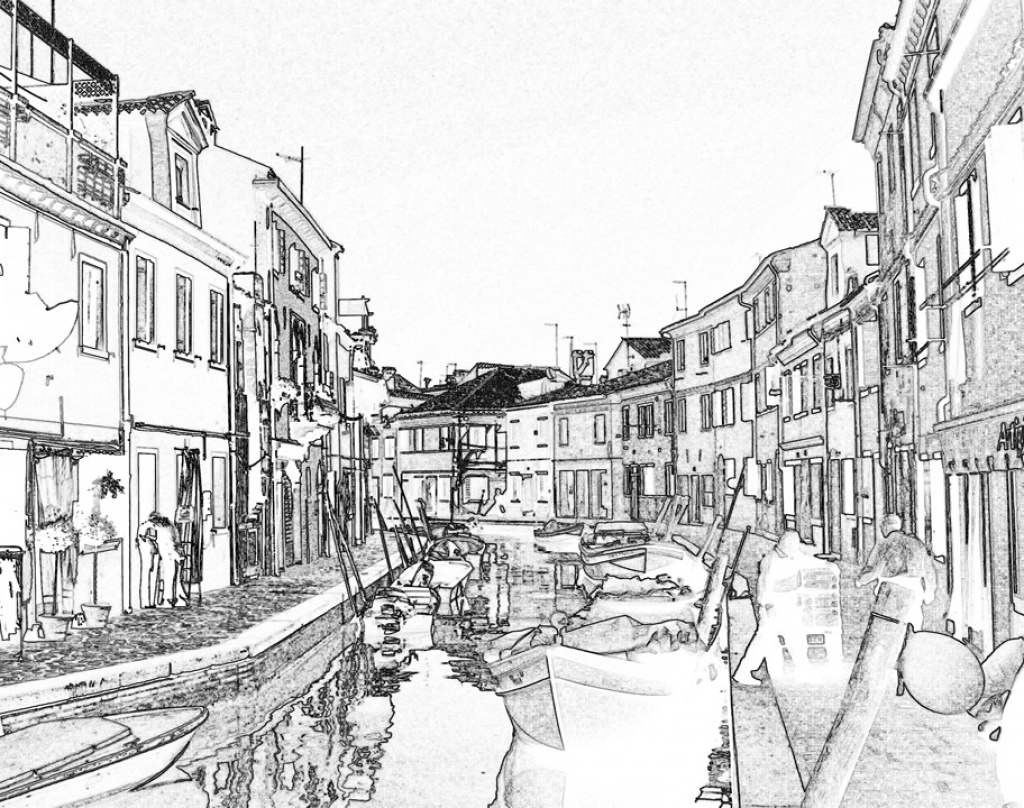 1024x808 The River City Venice Coloring Page Free Printable Adult