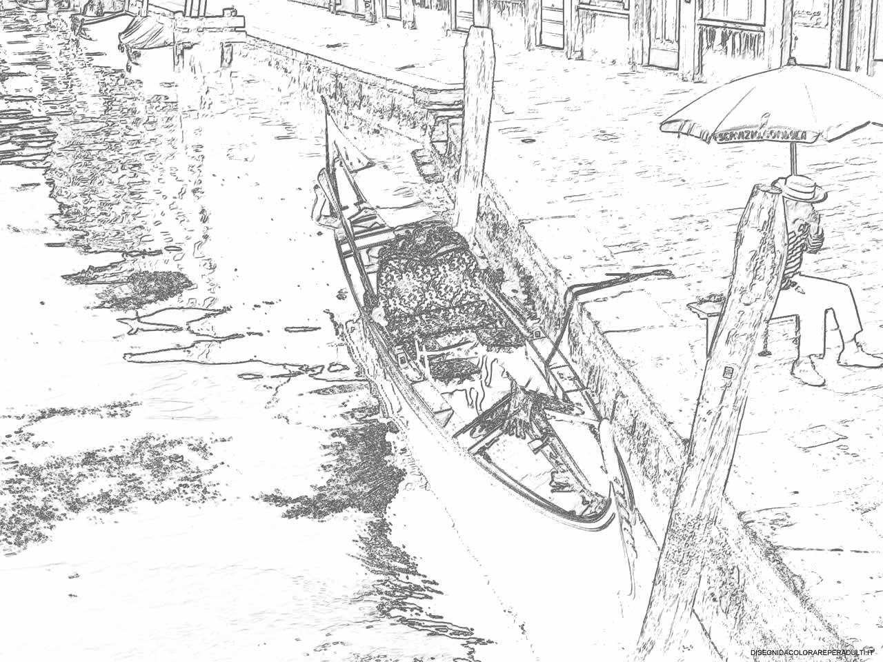 1280x960 Gondola E Gondoliere Drawings Of Venice