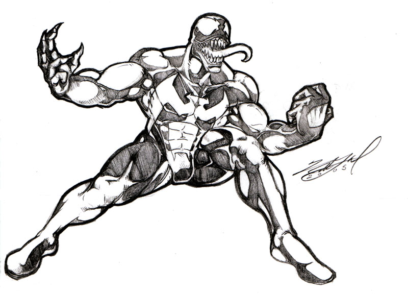 Venom Drawing At Getdrawings Com Free For Personal Use Venom