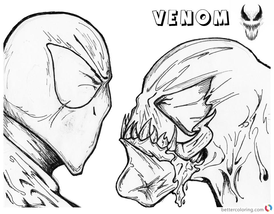 Venom Face Drawing At Getdrawings Com Free For Personal