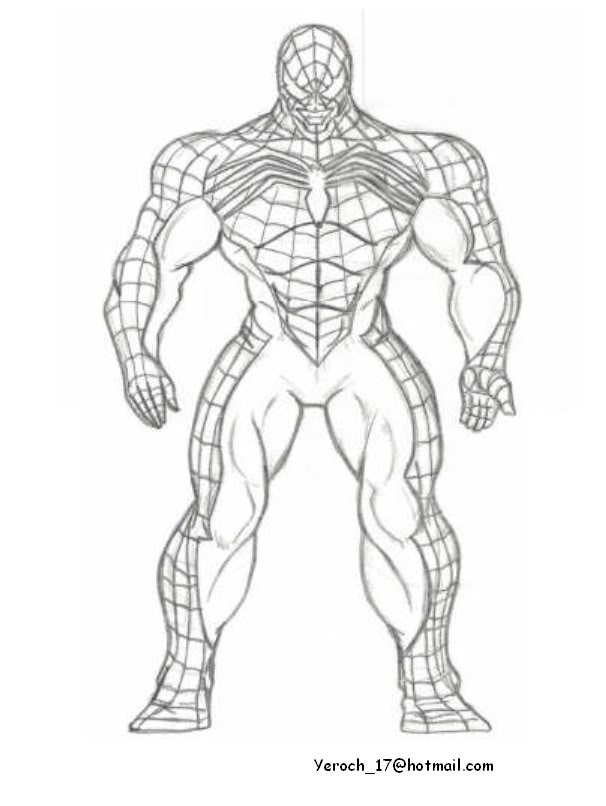 Venom Spiderman Drawing at GetDrawings.com | Free for personal use ...