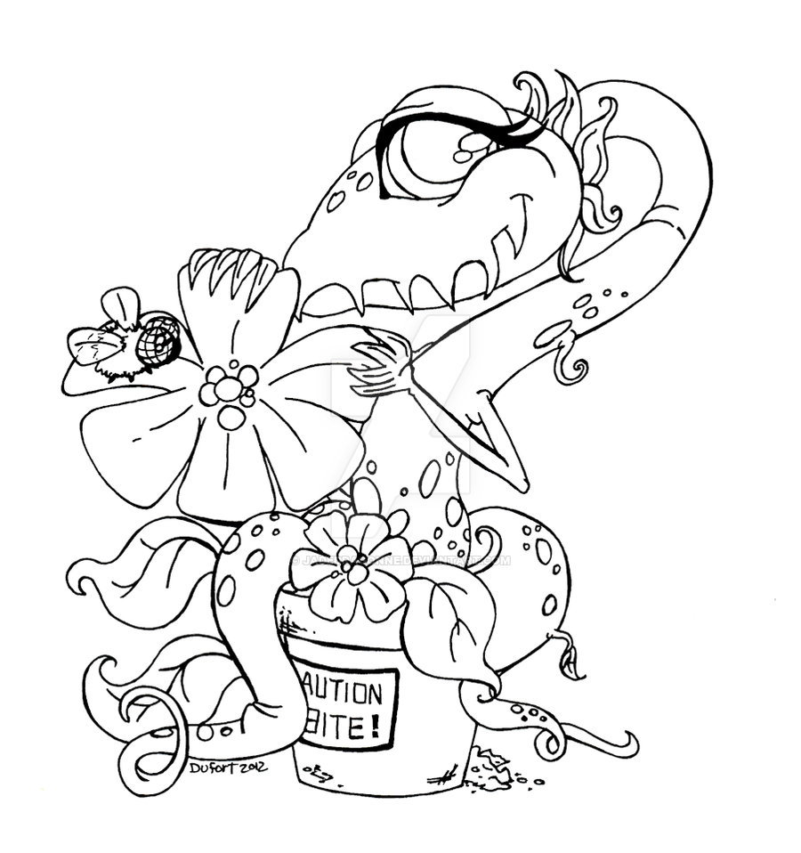 900x958 Adoptable Shy Venus Fly Trap By Jadedragonne