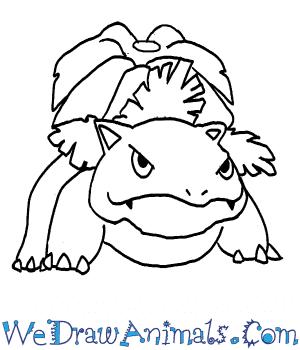 300x350 How To Draw Venusaur Pokemon