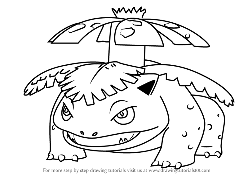 800x566 Learn How To Draw Venusaur From Pokemon Go (Pokemon Go) Step By