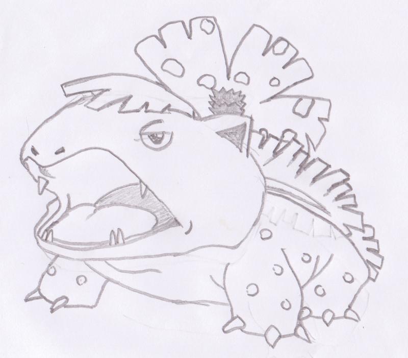 800x701 Pokemon Venusaur Hand Drawn By Raptorkraine