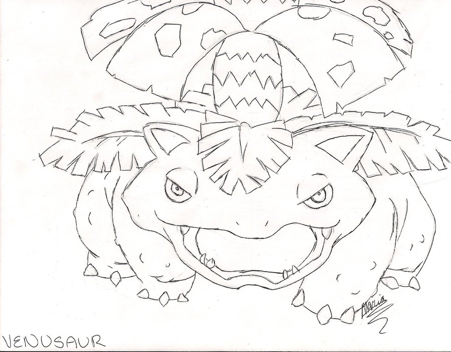 900x701 Draw Every Pokemon Venusaur By Happykeyboardmadness