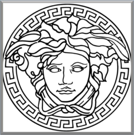 Versace Logo Drawing