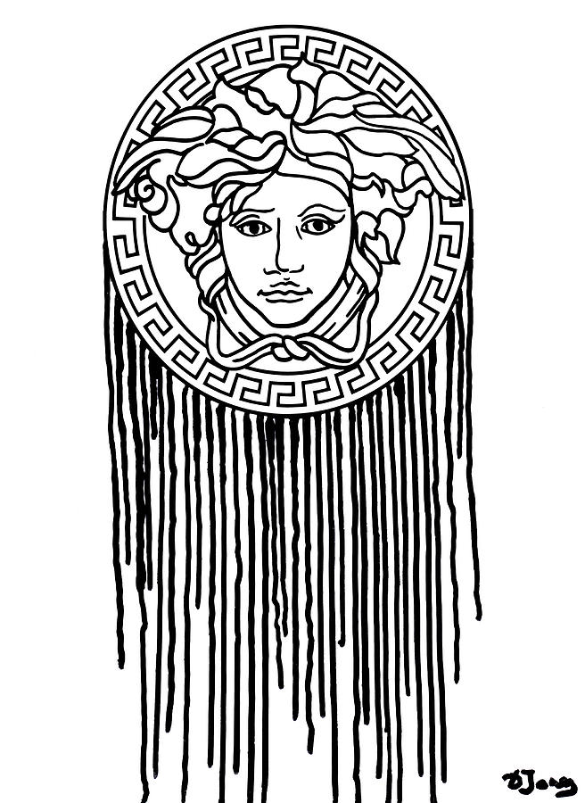 656x900 Poster Versage Print Versace Dripping Art Painting By Del Art