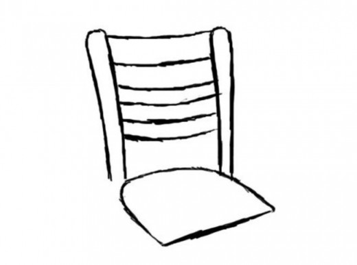 520x387 How To Draw A Chair Feltmagnet