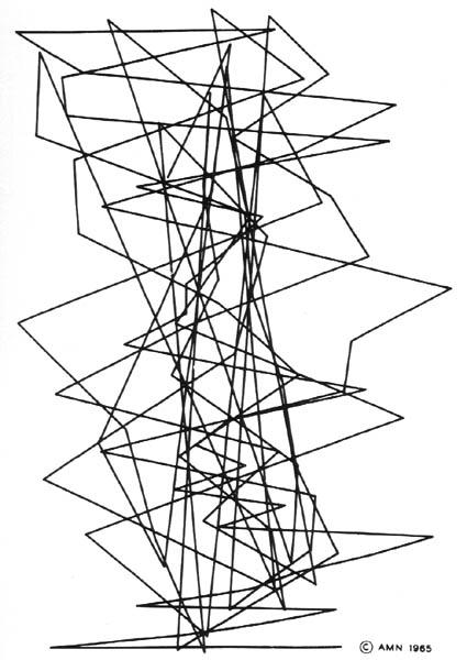425x600 Michael Noll, Gaussian Quadratic, 1962 1965. Ninety Nine Lines