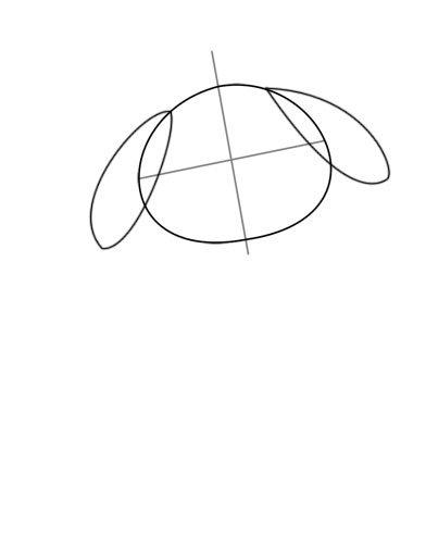 392x504 Drawing A Cartoon Dog Feltmagnet