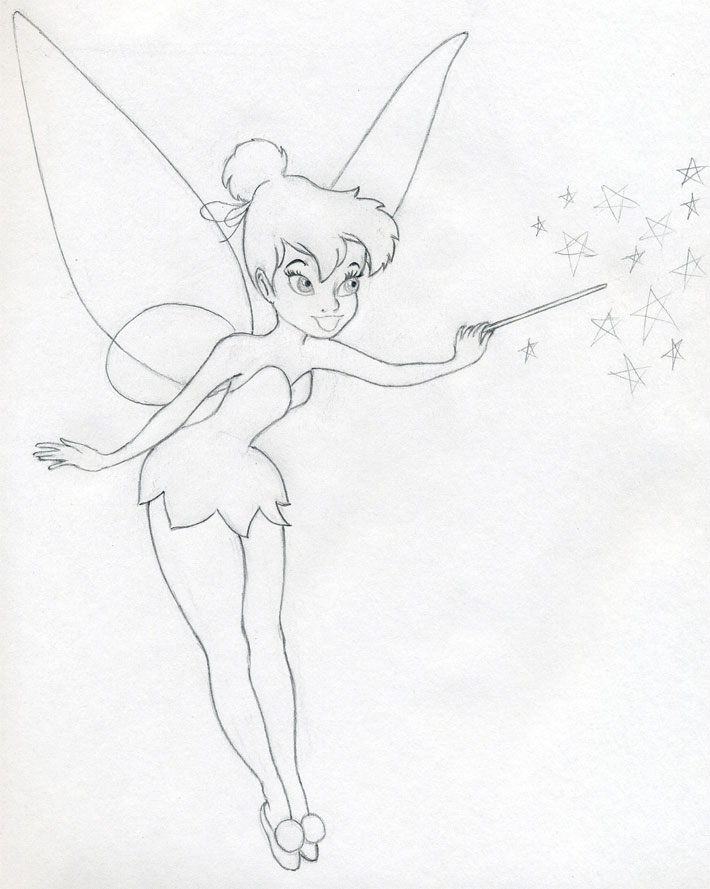 710x889 Draw Tinkerbell Is Very Easy Drawings Tinkerbell