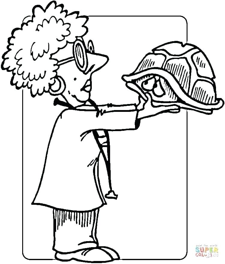 750x878 Veterinarian Coloring Pages Dog With Sign A Vet Exam Free