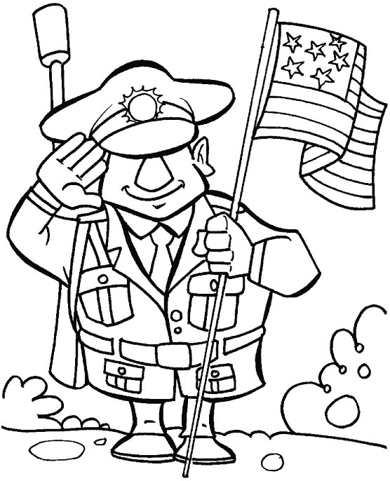 556x686 Veterans Day Coloring Pages Soldier Salute