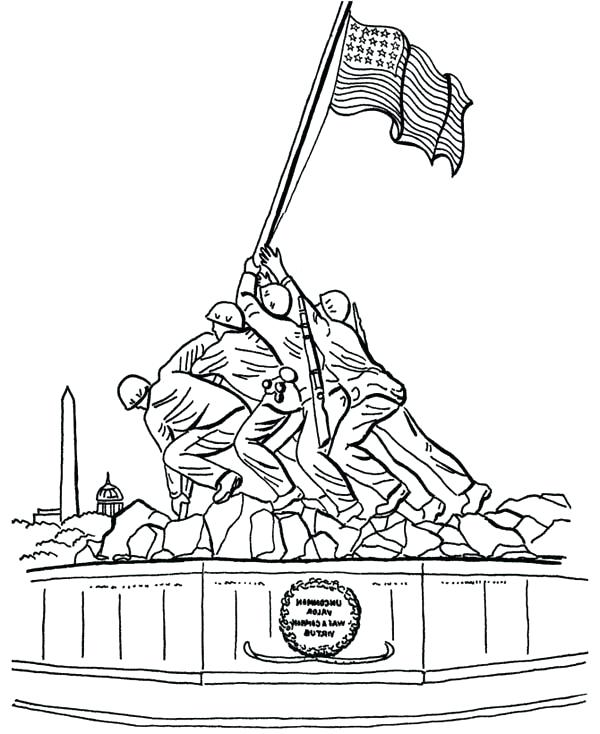 600x734 Coloring Pages For Veterans Day