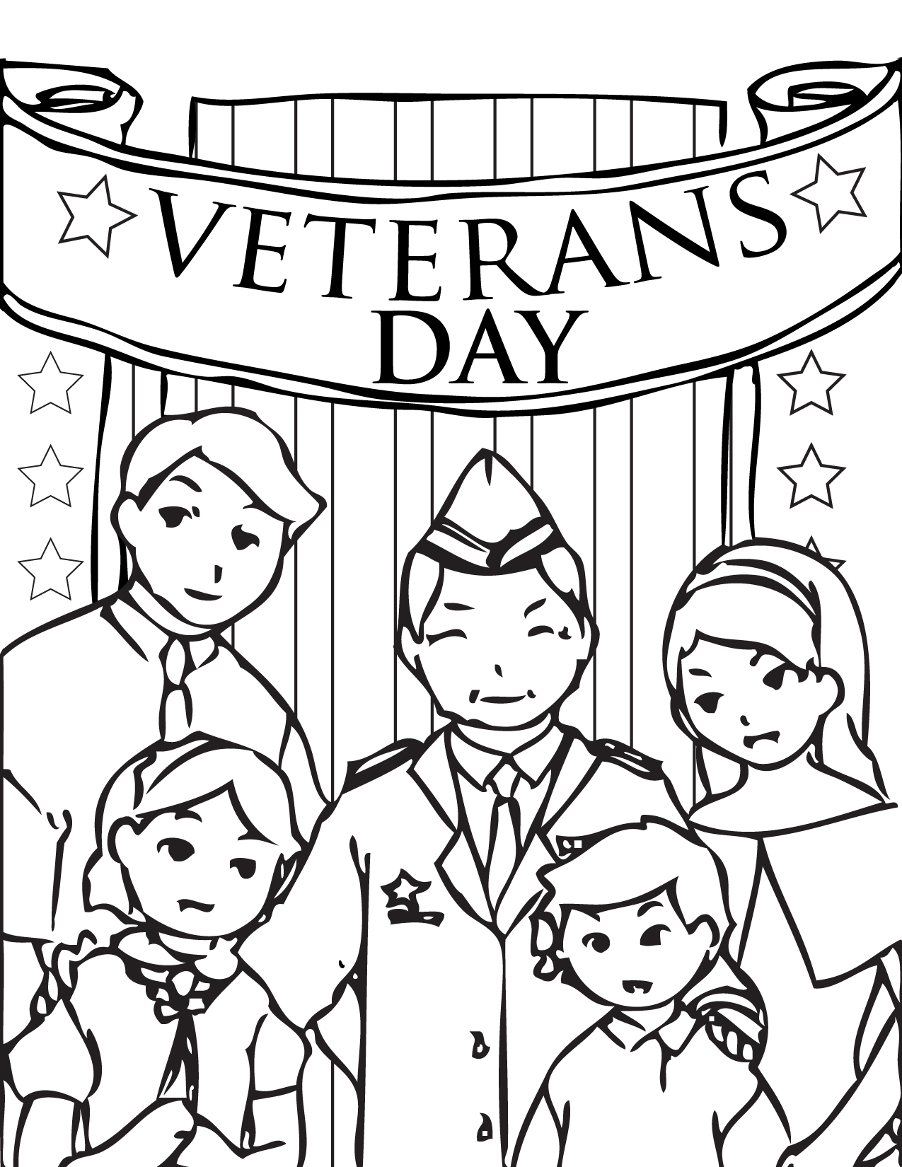 1275x1650 Ve Cool Veterans Day Coloring Pages