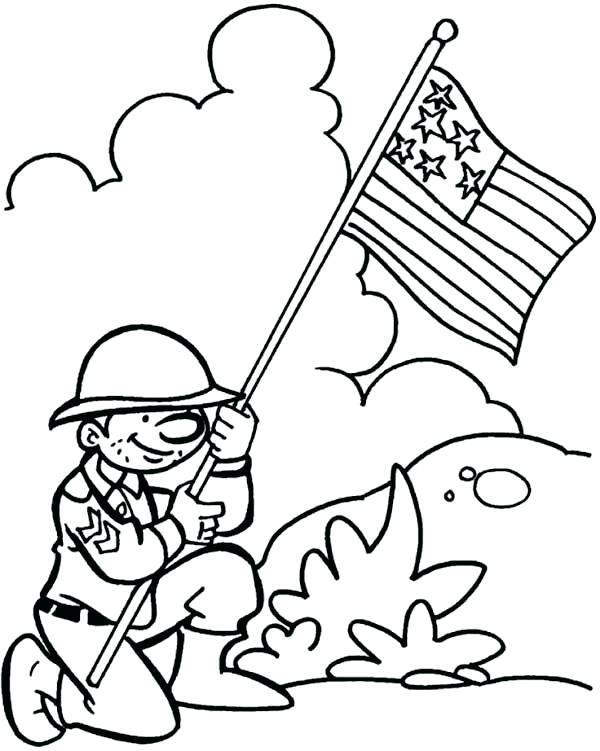 600x751 Veterans Coloring Pages To Print Free Veterans Day Coloring Pages