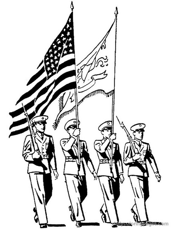 570x760 Best Veterans Day Coloring Page Ideas On Free