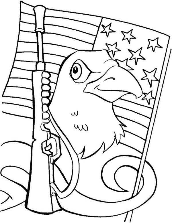 600x779 Best Bald Eagle Coloring Page For Kids Patriotic Coloring Pages