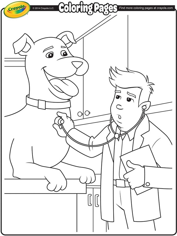 572x762 Veterinarian Kids Coloring Pages Veterinarians