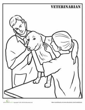 297x385 Veterinarian Coloring Page Veterinarians, Free Stuff