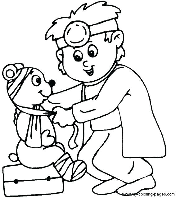 567x638 Veterinarian Coloring Page Veterinarian Coloring Page Coloring