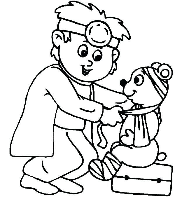 600x675 Veterinarian Coloring Page Veterinarian Coloring Pages Veterinary