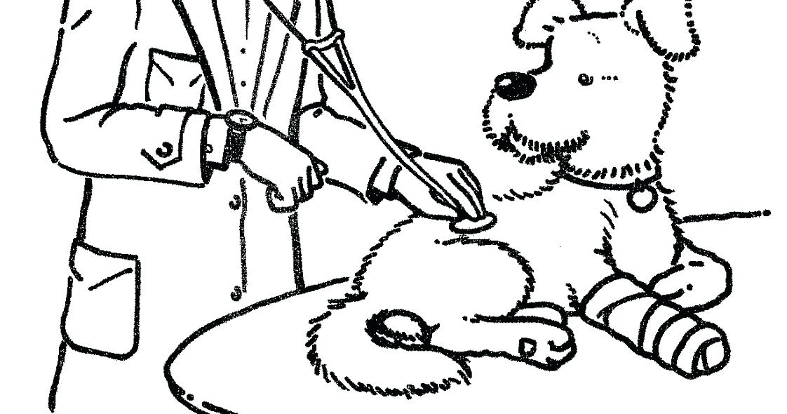 1122x590 Amazing Veterinarian Coloring Pages New For Best Veterinary
