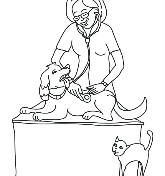 560x600 Veterinarian Coloring Pages Veterinarian Coloring Pages Free