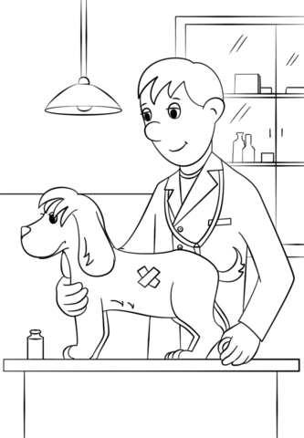 333x480 Veterinarian Coloring Page Free Printable Coloring Pages