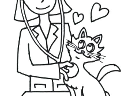 440x330 Amazing Veterinarian Coloring Pages New Veterinary Page Free