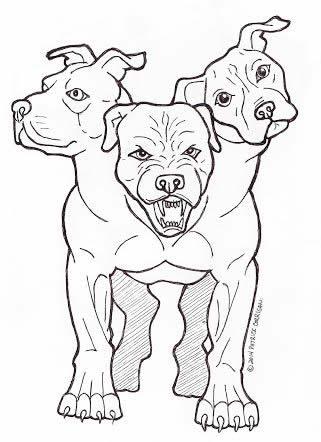 Pitbull Sketch Stock Images, Royalty-Free Images & Vectors ...  |Angry Pitbull Drawings Straight Jacket