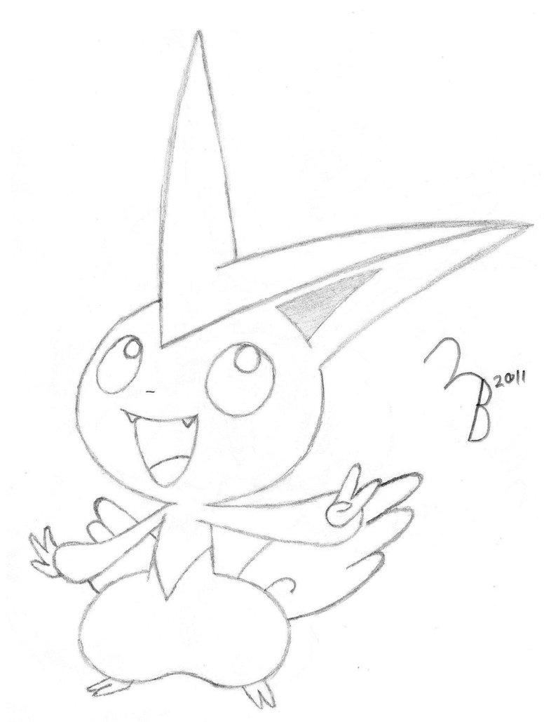 Victini Drawing At GetDrawings
