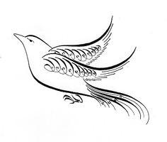 236x200 Victorian Calligraphy Bird Vector Art, Calligraphy And Royalty