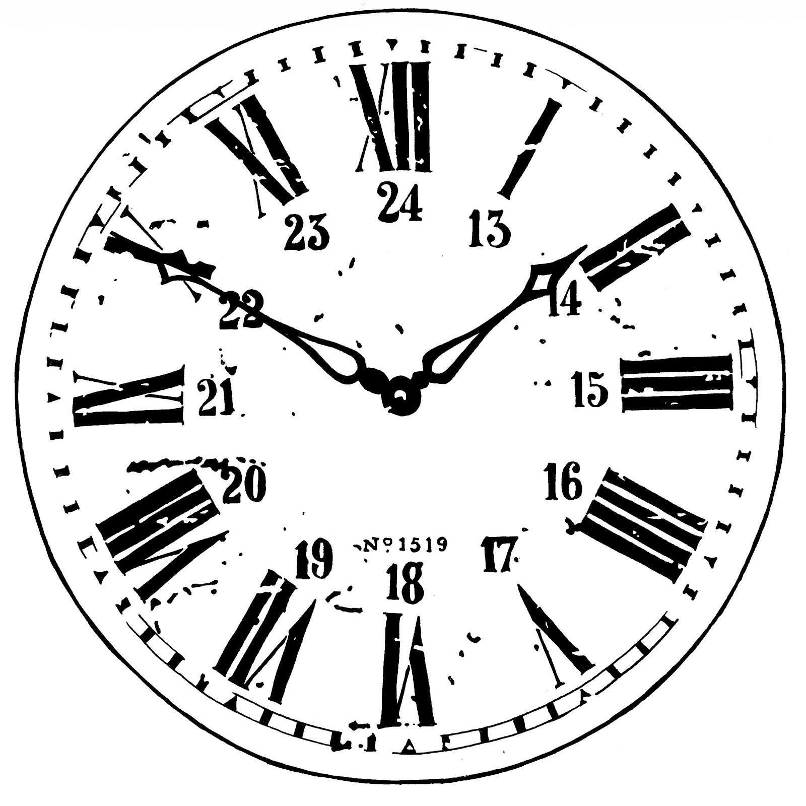 1600x1600 Vintage Grandfather Clock Drawing 894992