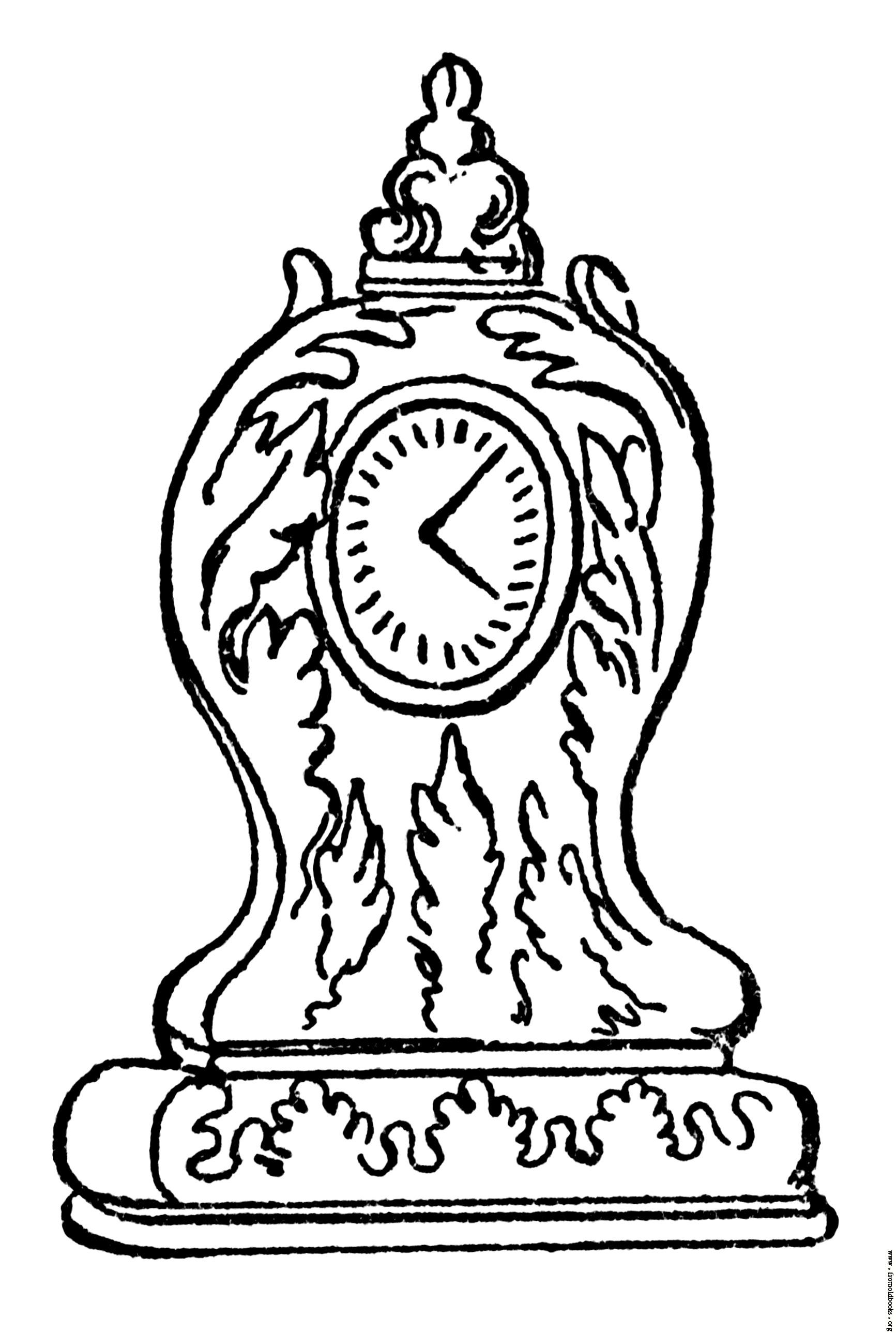 1733x2578 Clock Drawing Queen Anne Clock [Image 336x500 Pixels] Nye