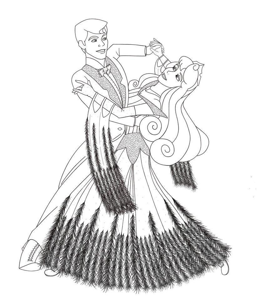 822x972 Foxtrot Sleeping Beauty Line Drawing By Lisagunnillustration