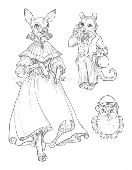 530x681 Victorian Animals By Visioncrafter