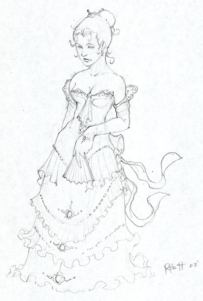 400x594 Victorian Dress By Theopticnerve