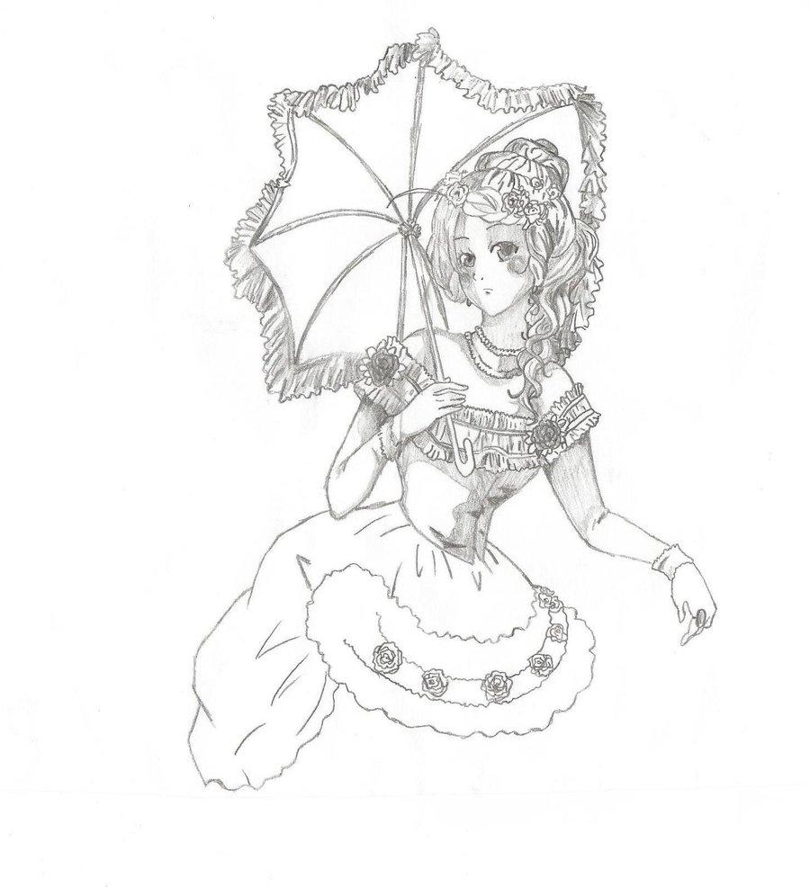 900x986 Victorian Era Drawing By Frubafreak17
